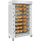 Rotisol-France FlamBoyant FB1160-8LP-SS Stainless Steel Liquid Propane Rotisserie with 8 Spits - 103,000 BTU