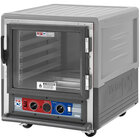 Metro C5 3 Series C533-CLFC-L-GY Insulated Low Wattage Undercounter Heated Holding and Proofing Cabinet with Clear Door and Lip Load Slides - Gray