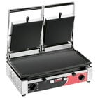 Sirman 34A3441105SI PD LL Double Panini Grill with Smooth Plates - 10 inch x 20 inch Cooking Surface