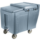 Cambro ICS125L401 SlidingLid™ Slate Blue Portable Ice Bin - 125 lb. Capacity