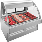 Structural Concepts GMG8 Fusion 99 inch Curved Refrigerated Deli Service Case