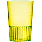 Fineline Quenchers 4115-Y 1.5 oz. Neon Yellow Hard Plastic Shooter Glass - 10/Pack