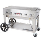 Crown Verity MCB-48 Natural Gas Portable Outdoor BBQ Grill / Charbroiler