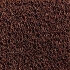Cactus Mat 1451R-B4 Vinyl-Coil 4' Wide Brown Scraper Mat Roll - 3/8'' Thick