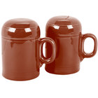 Homer Laughlin 756334 Fiesta Paprika Rangetop Salt and Pepper Shaker Set - 4 Sets / Case