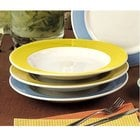 CAC R-125YLW Rainbow Pasta Bowl 30 oz. - Yellow - 12/Case