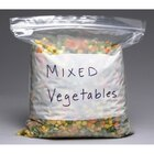 Plastic Food Bag 6 inch x 8 inch Pint Size Seal Top with White Write On Block - 1000 / Case