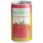 Sacramento 5.5 fl. oz. Tomato Juice - 48/Case