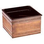 Cal-Mil 475-6-51 Copper Ice Housing with Clear Pan - 7 inch x 6 inch x 6 inch