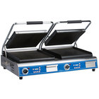 Globe GPGDUE14D Deluxe Double Sandwich Grill with Grooved Plates - 7200W