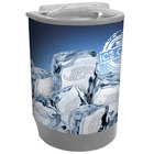 IRP Gray Iceberg 500 60 Qt. Insulated Portable Beverage Cooler / Merchandiser with Lid, Drain, and Semicircular Design