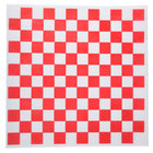 Choice 12 inch x 12 inch Red Check Deli Sandwich Wrap Paper   - 1000/Pack