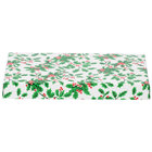 9 3/8 inch x 5 5/8 inch x 1 1/8 inch 2-Piece 1 lb. Holly Candy Box - 125/Case