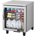 """True TUC-27G-LP-HC~FGD01 27"""" Low Profile Undercounter Refrigerator with Glass Door"""