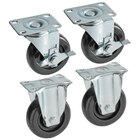 Cooking Performance Group 4 inch Casters for Open Pot Floor Fryers - 4/Set