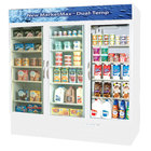 Beverage Air Market Max MMRF72-5-W-LED F/C/C White 3-Glass Door Dual Merchandising (1) Freezer / (2) Refrigerator with LED Lighting - 72 Cu. Ft.