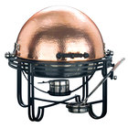 Round roll top chafer with hammered copper cover finish