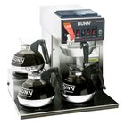 Bunn CWTF15 Automatic 12 Cup Coffee Brewer with 3 Left Lower Warmers - Black Plastic Funnel 120V (Bunn 12950.0298)