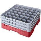 Cambro 36S1114416 Cranberry Camrack Customizable 36 Compartment 11 3/4 inch Glass Rack