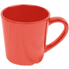 Smooth Melamine 7 oz. Orange Mug - 3 1/8 inch 12 / Pack