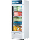 Turbo Air TGM-23SD Super Deluxe Series 27 inch White Single Glass Door Refrigerated Merchandiser