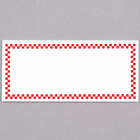 Rectangular Write On Deli Tag with Red Checkered Border - 25/Pack