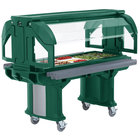 Cambro VBRL6519 Green 6' Versa Food / Salad Bar with Standard Casters - Low Height