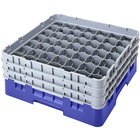Cambro 49S800168 Blue Camrack Customizable 49 Compartment 8 1/2 inch Glass Rack