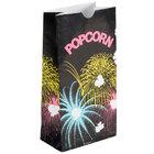 Bagcraft Packaging 300448 4 1/4 inch x 2 1/2 inch x 8 1/4 inch 46 oz. Funburst Design Popcorn Bag - 1000/Case
