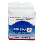 Lesaffre Red Star Bakers Active Dry Yeast 1 lb. Vacuum Pack - 20 / Case