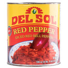 Del Sol #10 Can Diced Red Bell Peppers - 6/Case