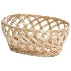 Tablecraft 1136W 9 1/4 inch x 7 inch x 3 1/4 inch Beige Natural Open Weave Oval Rattan Basket - 12/Pack