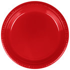 Creative Converting 28103121B 9 inch Classic Red Plastic Plate   - 600/Case