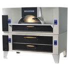 Bakers Pride FC-816/Y-600BL Brick Lined IL Forno Classico Liquid Propane Double Deck Oven - 60 inch