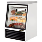 True TSID-36-2 36 inch Single Duty Two Door Refrigerated Deli Case - 11.8 Cu. Ft.