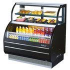 Turbo Air TOM-W-60SB Black 62 inch Slim Line Dual Service Refrigerated Open Display Merchandiser - 7 Cu. Ft. / 10.7 Cu. Ft.