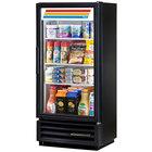True GDM-10SSL-LD Black Slim Line Swing Door Refrigerated Glass Door Merchandiser - 6.7 Cu. Ft.