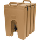 Cambro 1000LCD157 Camtainers® 11.75 Gallon Coffee Beige Insulated Beverage Dispenser