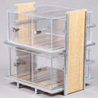 Cal-Mil 1279 Eco Modern Two Tier Bread Display Case - 14 inch x 11 1/2 inch x 15 inch