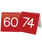 Cal-Mil 269-1 Red Customizable Replacement Engraved Number Tent Sign - 3 inch x 3 inch
