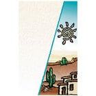 8 1/2 inch x 11 inch Menu Paper Cover - Southwest Themed Desert Design - 100/Pack