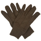 Premium Brown Jersey Gloves - Large   - 12/Pack