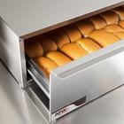 APW Wyott BWD-50 Dry Hot Dog Bun Warmer for HR-50 Series Hot Dog Roller Grills - Holds 40 Buns, 208V
