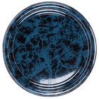 Sabert 816 16 inch Black Marble Round Catering Tray - 36/Case