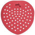 Lavex Janitorial Strawberry Scent Deodorized Urinal Screen - 12/Pack
