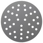 "American Metalcraft 18909PHC 9"" Perforated Pizza Disk - Hard Coat Anodized Aluminum"