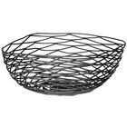 Tablecraft BK17310 Artisan Square Black Wire Basket - 10 inch x 10 inch x 4 inch