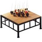 Cal-Mil 1711-5-60 Iron Black Square Riser with Bamboo Top - 12