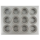 Chicago Metallic 43025 12 Cup Glazed Customizable Oversized Large Crown Muffin Pan - 13 1/2 inch x 17 7/8 inch
