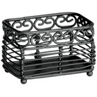 Tablecraft BK256 Mediterranean 3 1/2 inch x 2 1/2 inch Black Metal Sugar Caddy